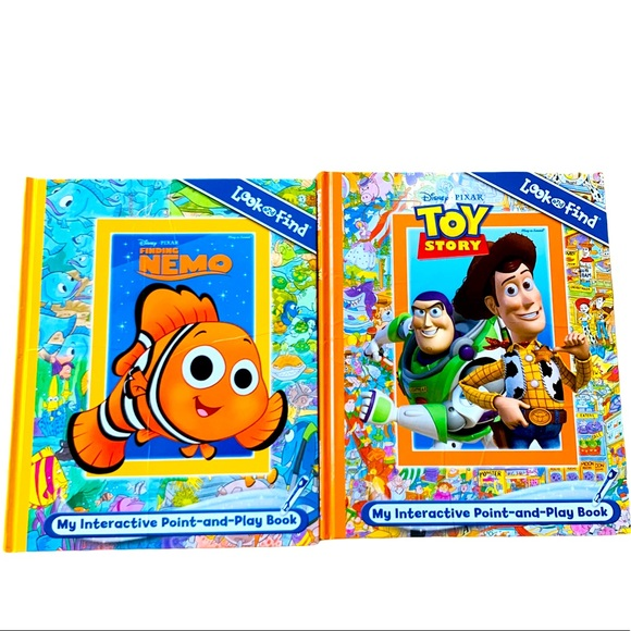 Finding Nemo & Toy Story Point & Play Book